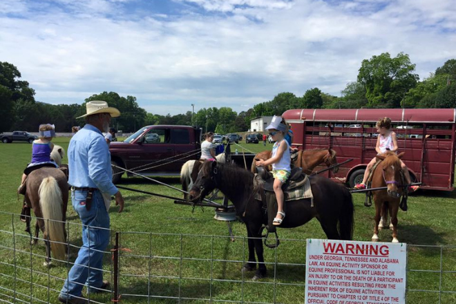 Pony rides at Mayberry Day