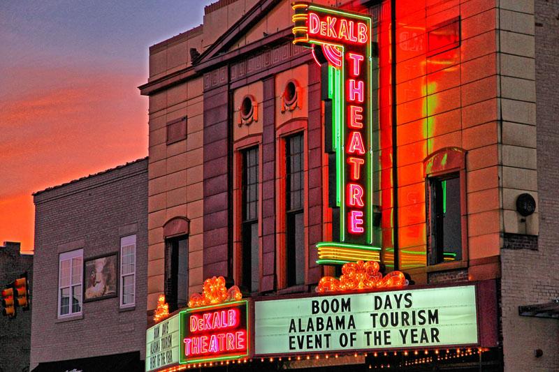 DeKalb Theatre on Fort Payne Main Street