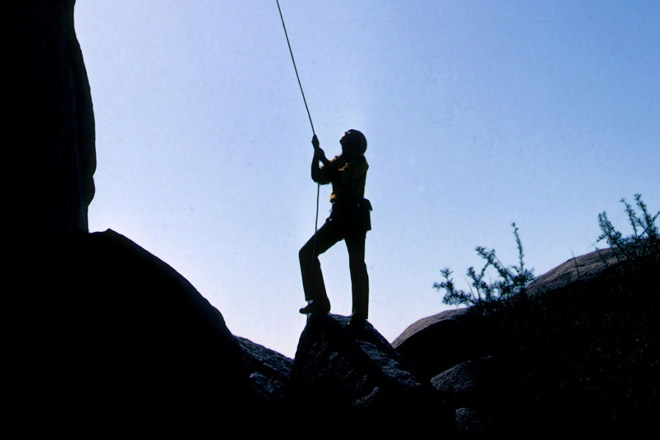 Afternoon Rappelling