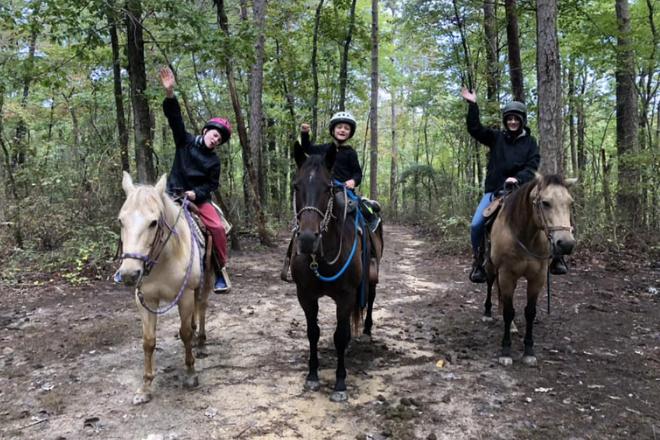 horseback riding at Shady Grove Dude Ranch