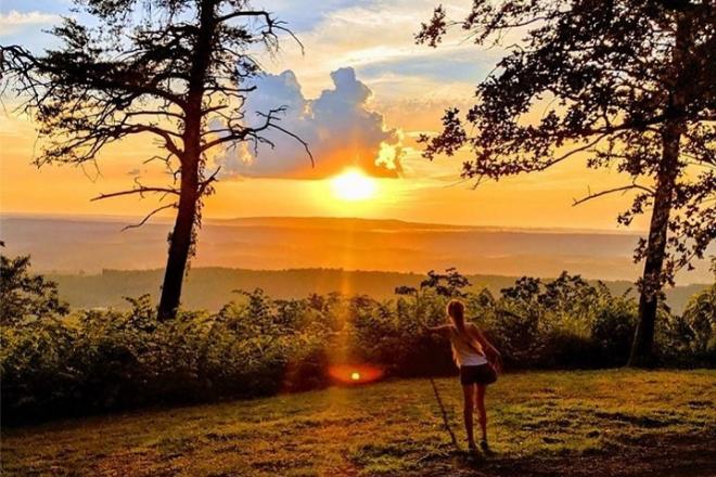 Sunset at Brow Park in Mentone, Alabama