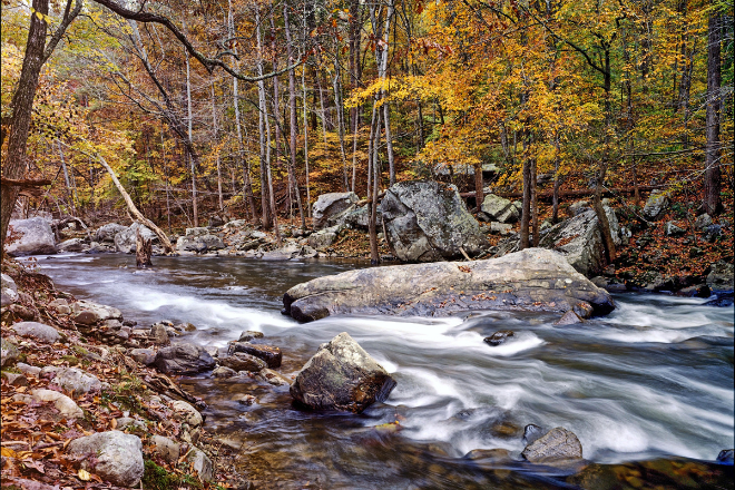 Buck's Pocket river by JD