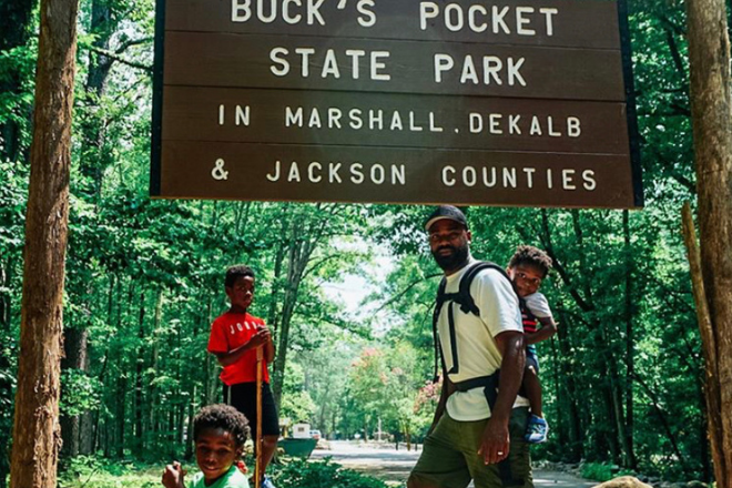 Buck's Pocket sign by blackadventurecrew