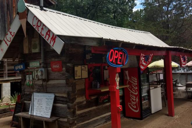 Mentone's Log Cabin Village Ice Cream Shoppe