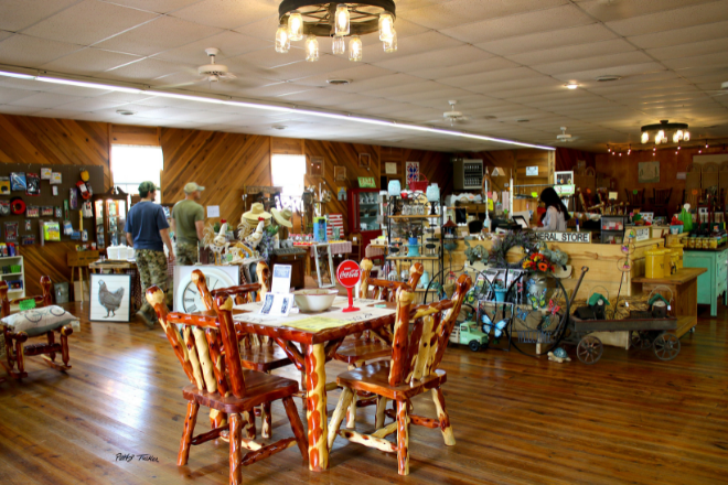 Nena's general store offers an array of fresh produce, gifts and souvenirs