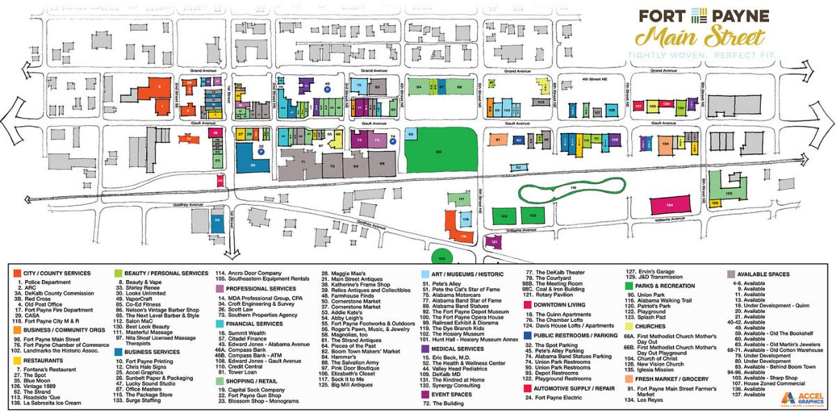 Fort Payne Main Street Map